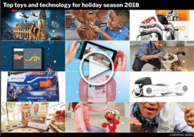 YEAR END: Top toys and tech for 2018 interactive infographic