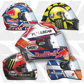 MOTOGP: Rider helmets 2019 infographic