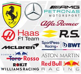 F1: Team logos 2019 (2) infographic