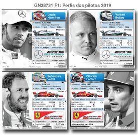F1: Perfis dos pilotos 2019 infographic