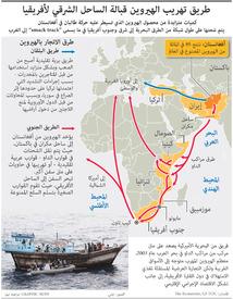 مخدرات: طريق تهريب الهيروين قبالة الساحل الشرقي لأفريقيا infographic