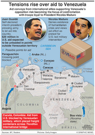 VENEZUELA: Tensions rise over humanitarian aid infographic
