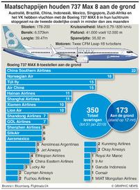 LUCHTVAART: Boeing 737 MAX 8 aan de grond infographic