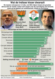 INDIA: Wat de Indiase kiezer dwarszit infographic