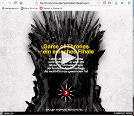 UNTERHALTUNG: Game of Thrones - Übersicht interaktiv infographic