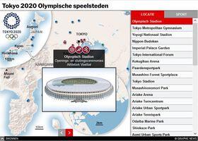 TOKYO 2020: Olympische speelsteden interactive (1) infographic