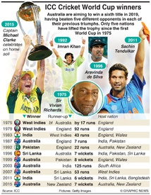 CRICKET: Cricket World Cup winners and finalists infographic