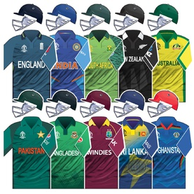 CRICKET: Cricket World Cup 2019 team home kits infographic