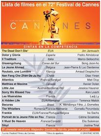 CINE: Festival Fílmico de Cannes 2019 infographic