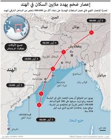 الهند: إعصار فاني infographic