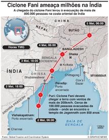 ÍNDIA: Ciclone Fani infographic