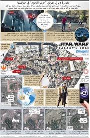ترفيه: مغامرة ديزني ومرفق حرب النجوم في حديقتها infographic