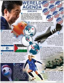 WERELDAGENDA: Juni 2019 infographic