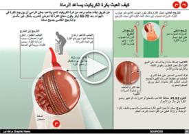 كريكيت: كيف العبث بكرة الكريكيت يساعد الرماة - رسم تفاعلي infographic
