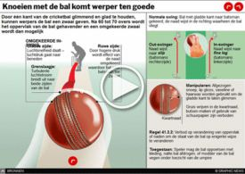 CRICKET: World Cup knoeien met de bal interactive infographic
