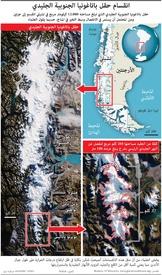 تشيلي: انقسام حقل باتاغونيا الجنوبية الجليدي infographic