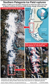 CHILE: Southern Patagonia Ice Field ruptures infographic