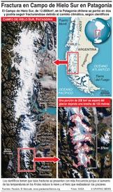 CHILE: Fractura en el Campo de Hielo Sur en la Patagonia infographic