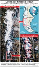 CHILI: IJsveld Zuid-Patagonië scheurt infographic