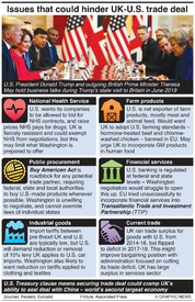 BREXIT: Issues that could hinder UK-U.S. trade deal infographic