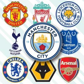 SOCCER: English Premier League crests 2019-20 infographic
