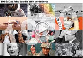 GESCHICHTE: 1969 -- Das Jahr veränderte die Welt - interactive infographic