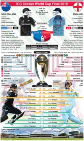 CRICKET: Cricket World Cup 2019 Final preview: New Zealand v England infographic