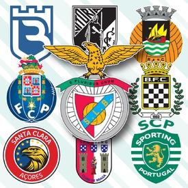 Portuguese Primeira Liga crests 2019-20 infographic