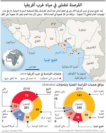 أفريقيا: القرصنة تنتشر في خليج غينيا infographic