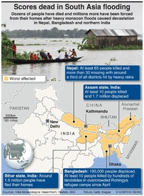 WEATHER: Scores dead in South Asia flooding infographic