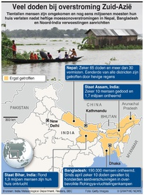 WEER: Scores dead in South Asia flooding infographic