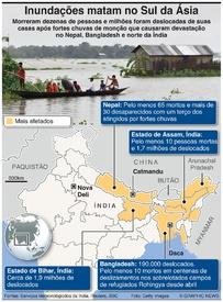 METEOROLOGIA: Inundações matam no sul da Ásia infographic