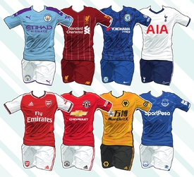 SOCCER: English Premier League kits 2019-20 infographic
