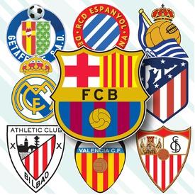SOCCER: Spanish La Liga crests 2019-20 infographic
