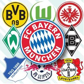 German Bundesliga crests 2019-20 infographic