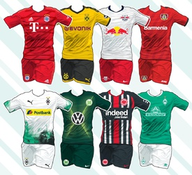 SOCCER: German Bundesliga kits 2019-20 infographic