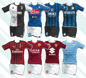 SOCCER: Italian Serie A kits 2019-20 infographic