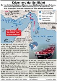 MITTELOST: Irani beschlagnahmen britischen Tanker infographic