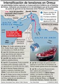 ORIENTE MEDIO: Irán captura un petrolero británico  infographic