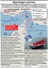 MIDDEN-OOSTEN: Iran neemt Britse tanker in beslag infographic