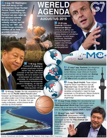 WERELD AGENDA: August 2019 infographic