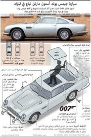 سيارات: سيارة جيمس بوندز أستون مارتن infographic