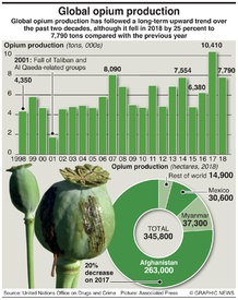 NARCOTICS: Global opium production infographic