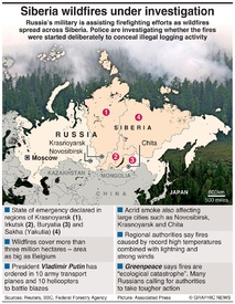 DISASTERS: Russia's wildfires infographic