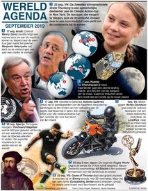WERELD AGENDA: September 2019 infographic