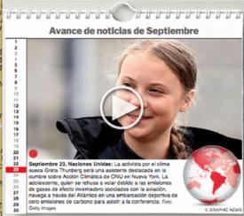 AGENDA MUNDIAL: Septiembre 2019 interactivo infographic