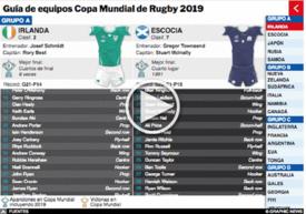 RUGBY: Guía de equipos Copa Mundial de Rugby 2019  Interactivo infographic