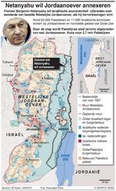 MIDDEN-OOSTEN: Netanyahu's annexatieplan voor Jordaanoever infographic