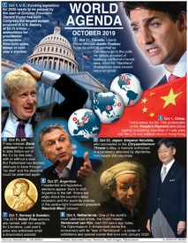 WORLD AGENDA: October 2019 (1) infographic