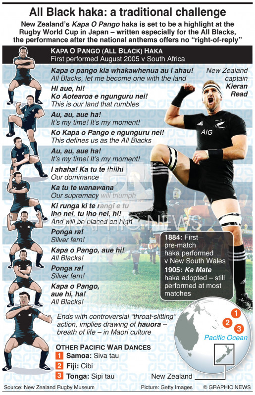The New Zealand Haka infographic